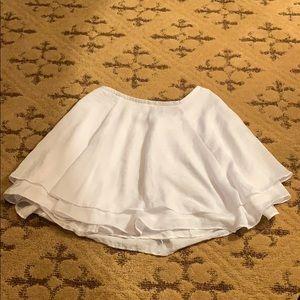 Urban outfitters white mini skirt